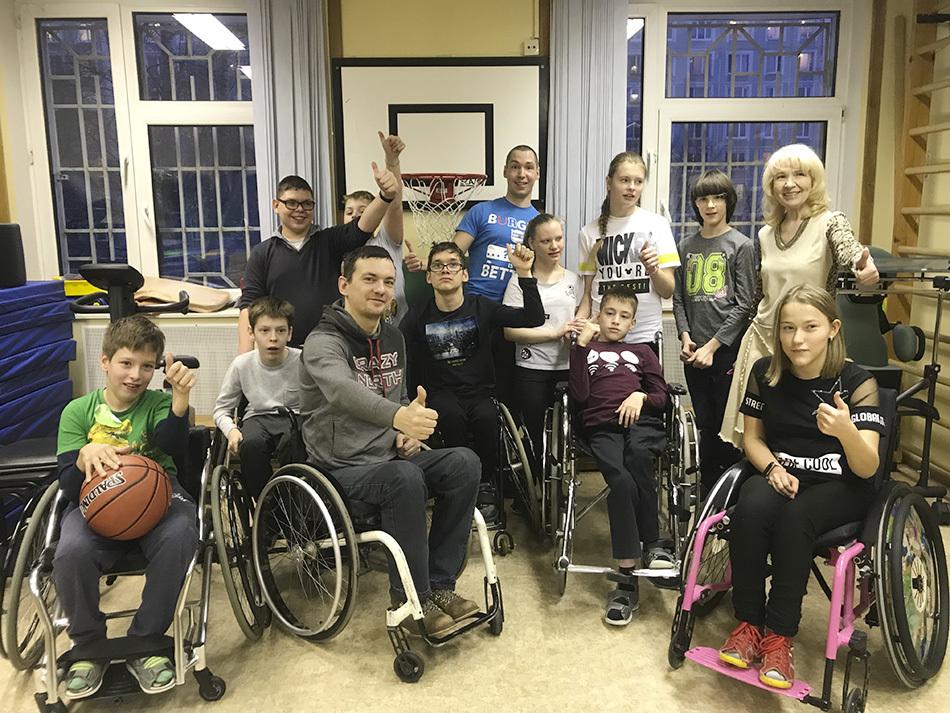 В Москве прошел мастер-класс по баскетболу на колясках