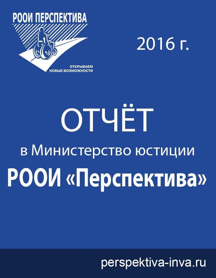 Отчёт РООИ «Перспектива» за 2016 г. в Министерство Юстиции